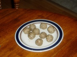 May 2-I finished the LoFat Italian Meatballs that were in the Freezer