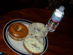May 9-Egg Salad Sandwiches with Blueberry Bagels